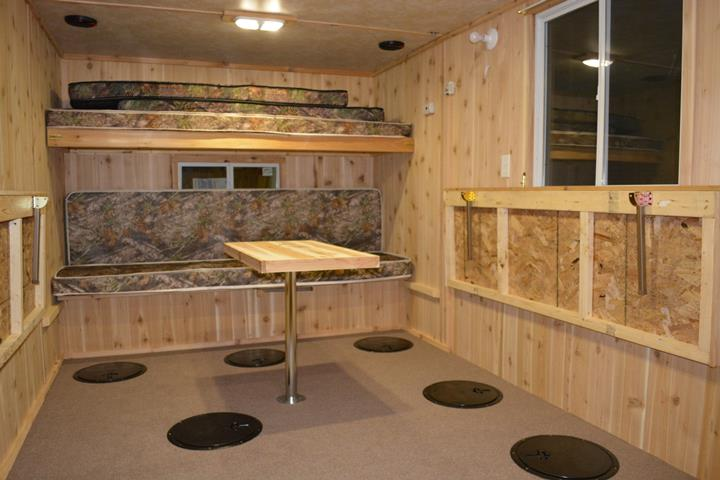 Leech lake fish house rentals rates rent ice fishing for Fish house rentals mn